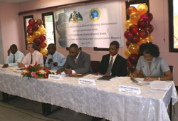 Members of the head table at the launch