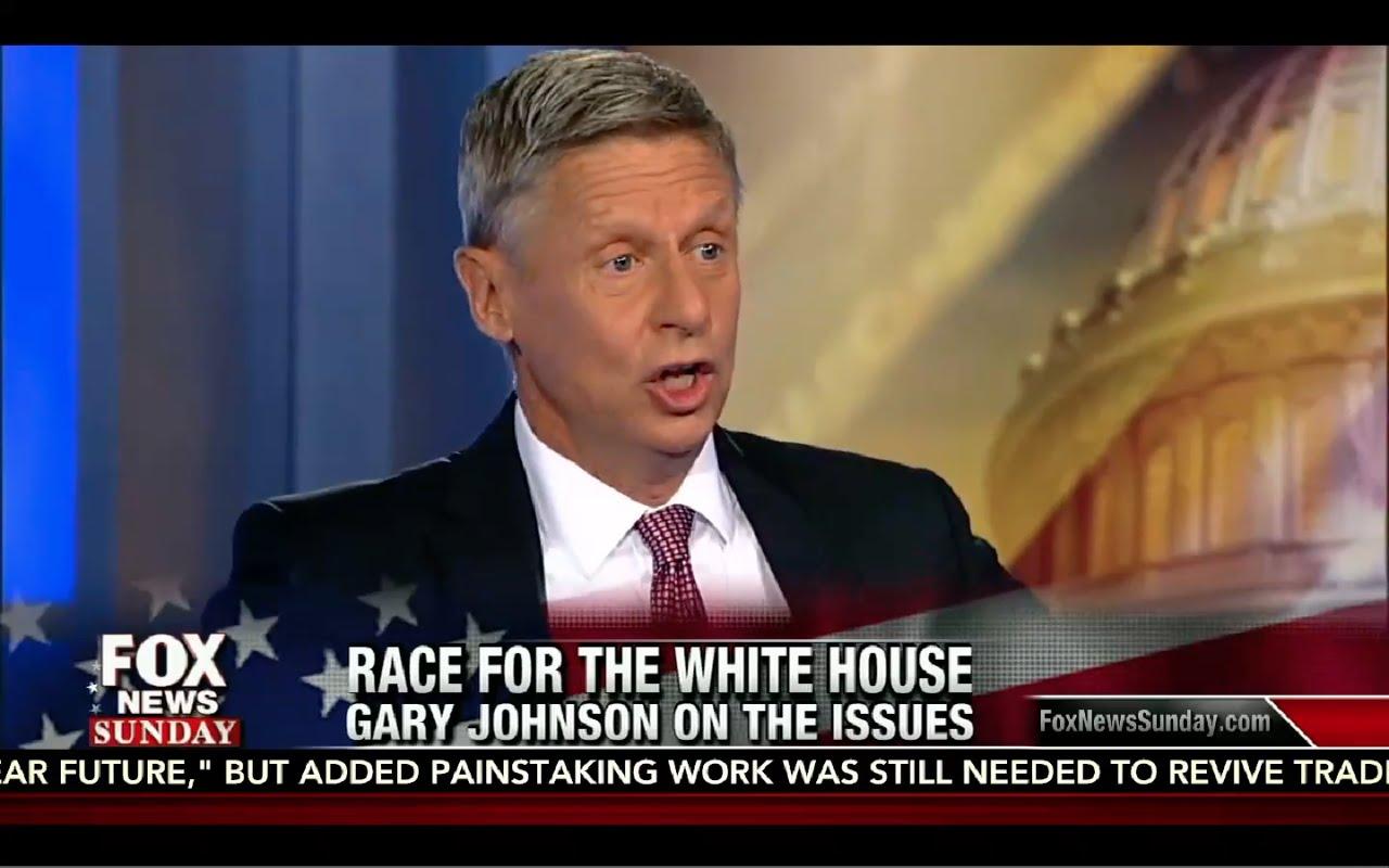 Chris Wallace Interviews Gary Johnson: Fox News Sunday 8/28/16 13