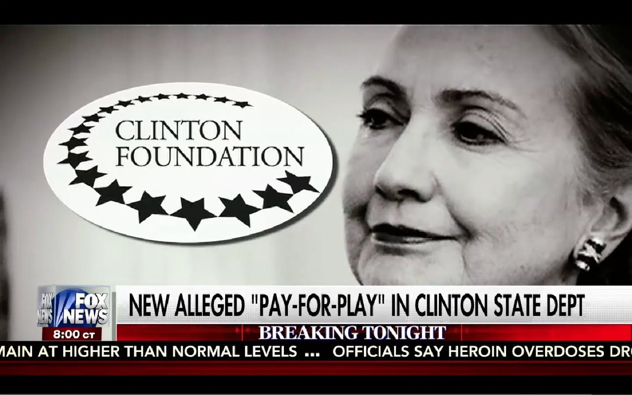 Kelly File 8/29/16 FULL: New Hillary Emails Prove Pay to Play in Clinton State Department! Corrupt! 4