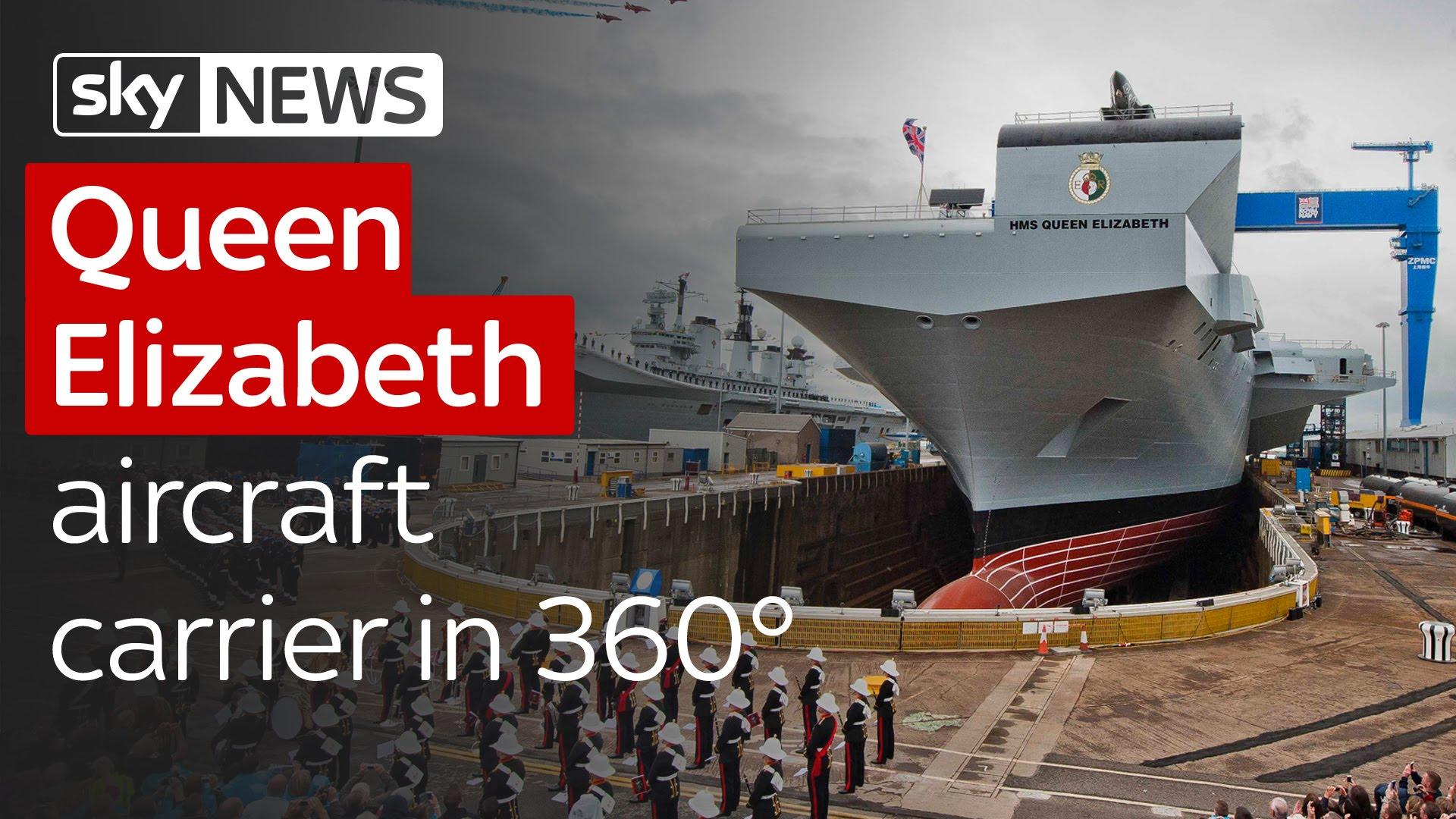 Queen Elizabeth aircraft carrier in 360° 5