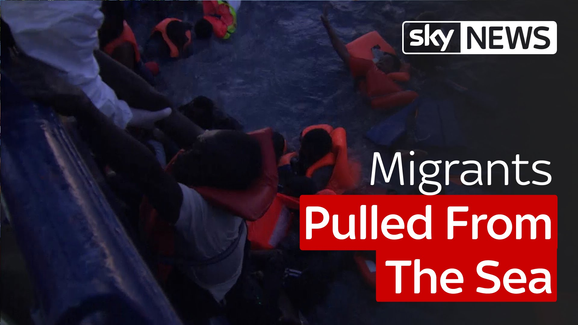 Migrants Pulled From The Sea 1