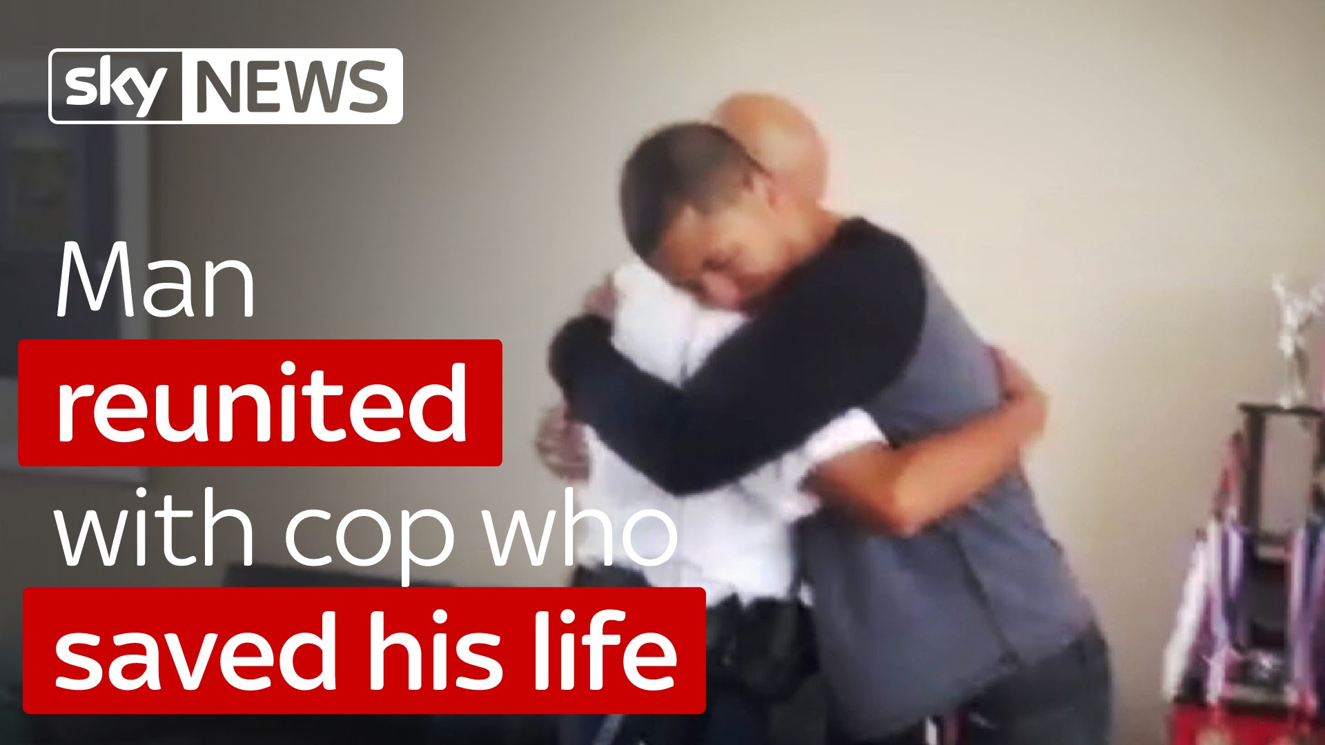 Man Reunited With Cop Who Saved His Life 9