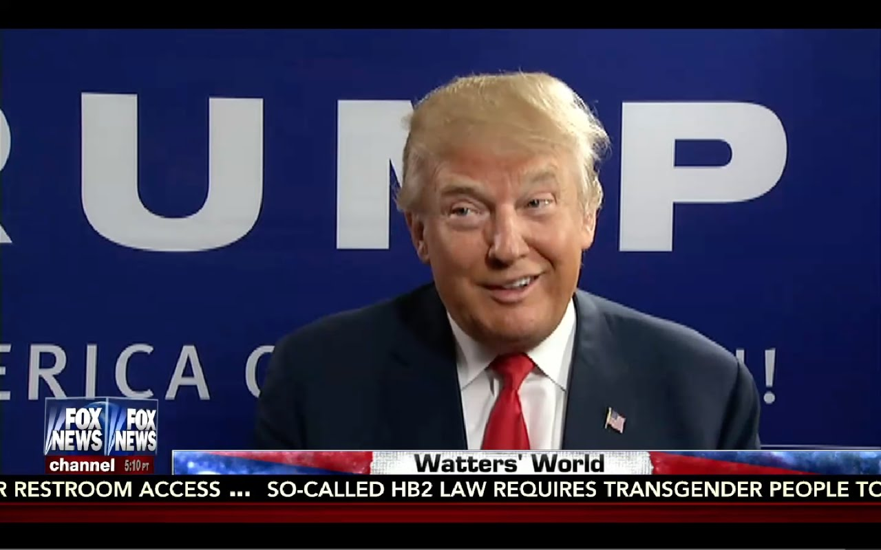 Donald Trump Interview: Watters World 9/3/16 5