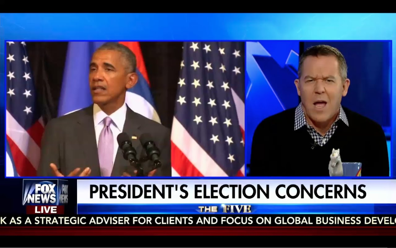 Greg Gutfeld Destroys Obama! Obama Scared of Trump! 9/20/16 3