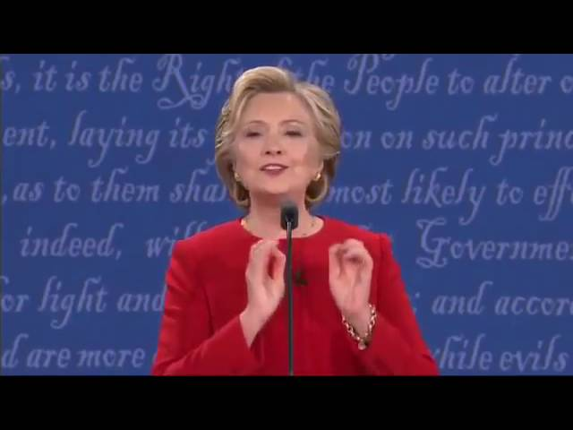 Hillary Clinton Tries to be Cute but Can't Explain Tax Plan! Funny! 9/26/16 Presidential Debate 8