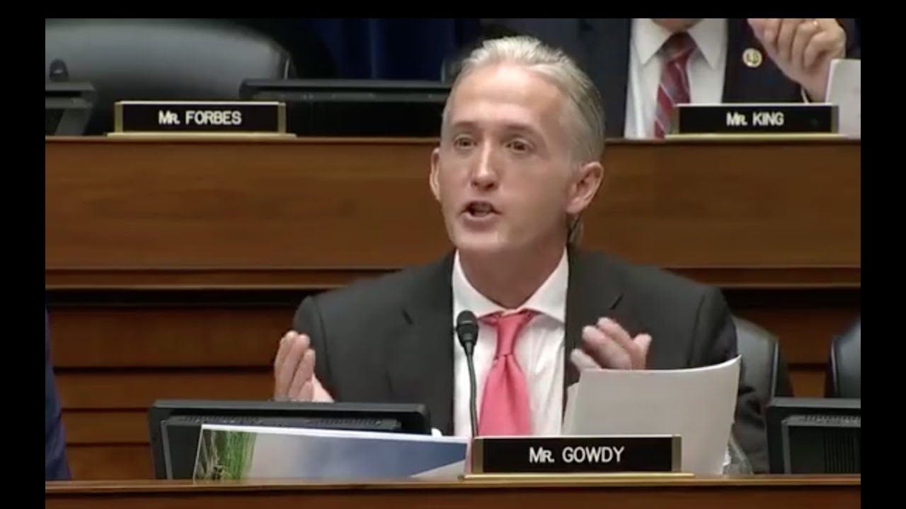 Trey Gowdy SHAMES FBI Director James Comey Over Obvious Hillary Crimes! 9/28/16 1