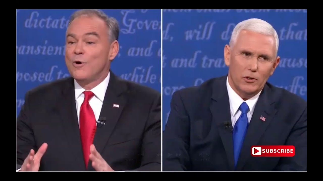 Tim Kaine Nervous As Hell at Vice Presidential Debate! 10/4/16 13