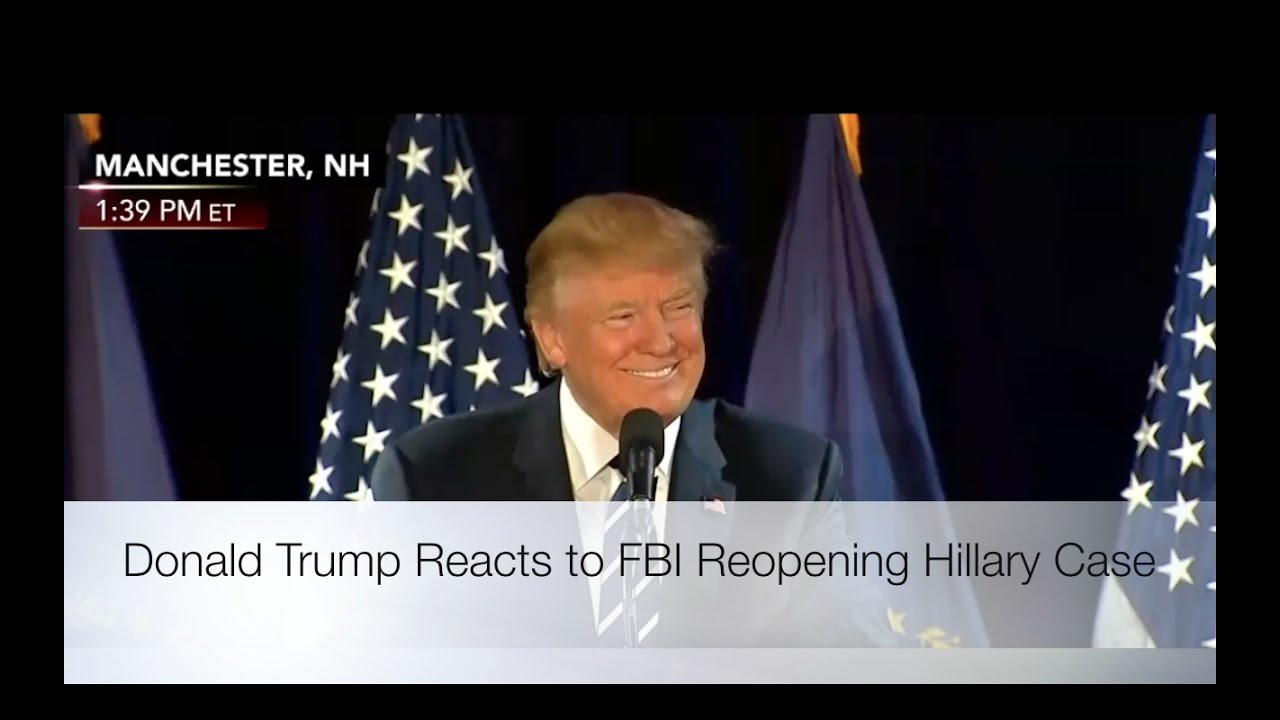 Donald Trump Reacts to FBI Reopening Hillary Case! 10/28/16 8
