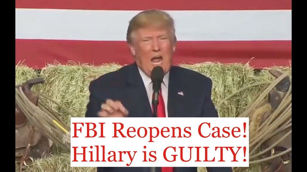 Donald Trump Prosecutes Hillary Clinton After FBI Reopens Case 10/29/16 7