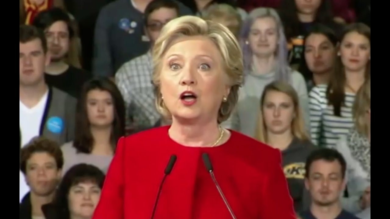 """Hillary Clinton Says Ignore New Email Scandal, """"No Case Here"""" 10/31/16 9"""
