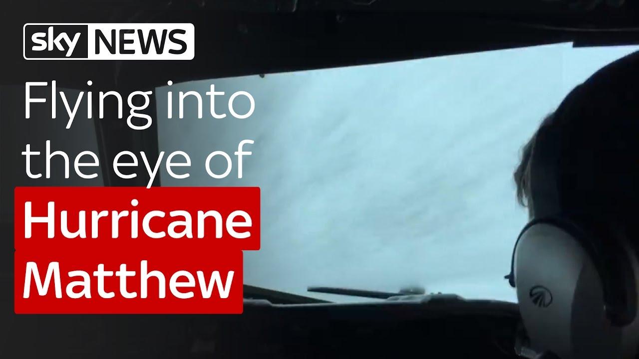 Flying into the eye of Hurricane Matthew 10