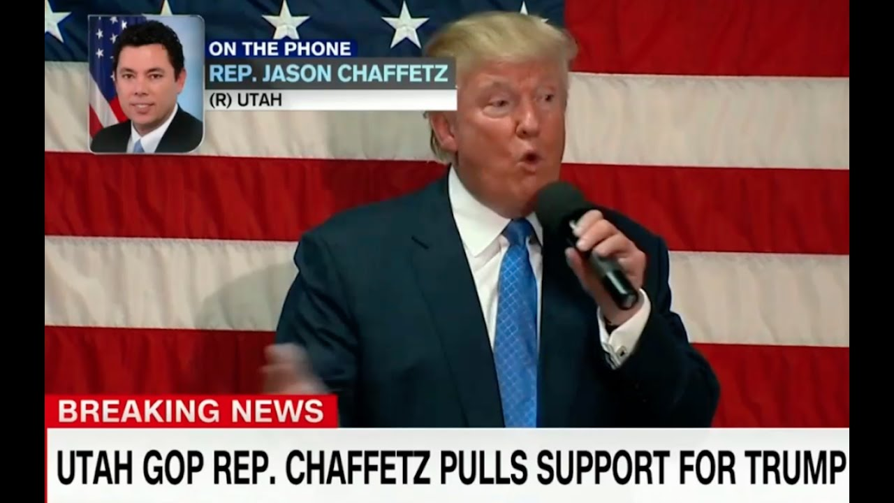 Jason Chaffetz Pulls His Support for Donald Trump! 10/7/16 6
