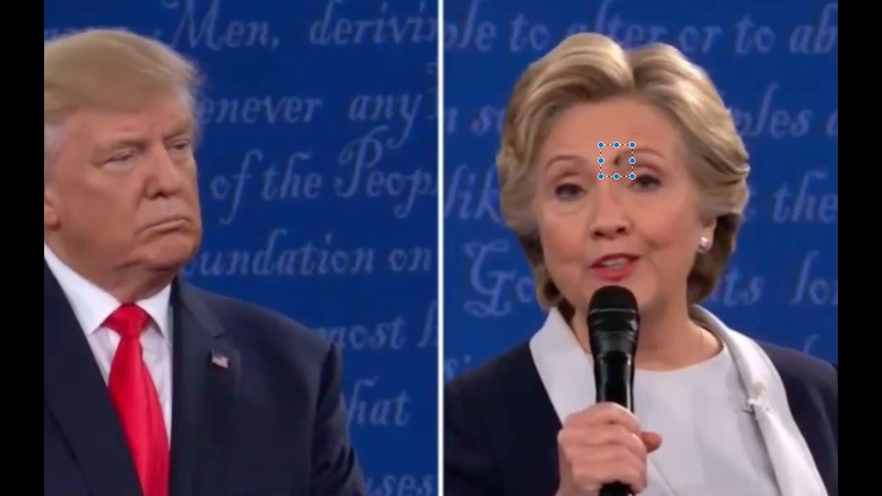 Fly Lands On Hillary Clinton's Face after Trump Slams Bill Clinton! 10/9/16 2