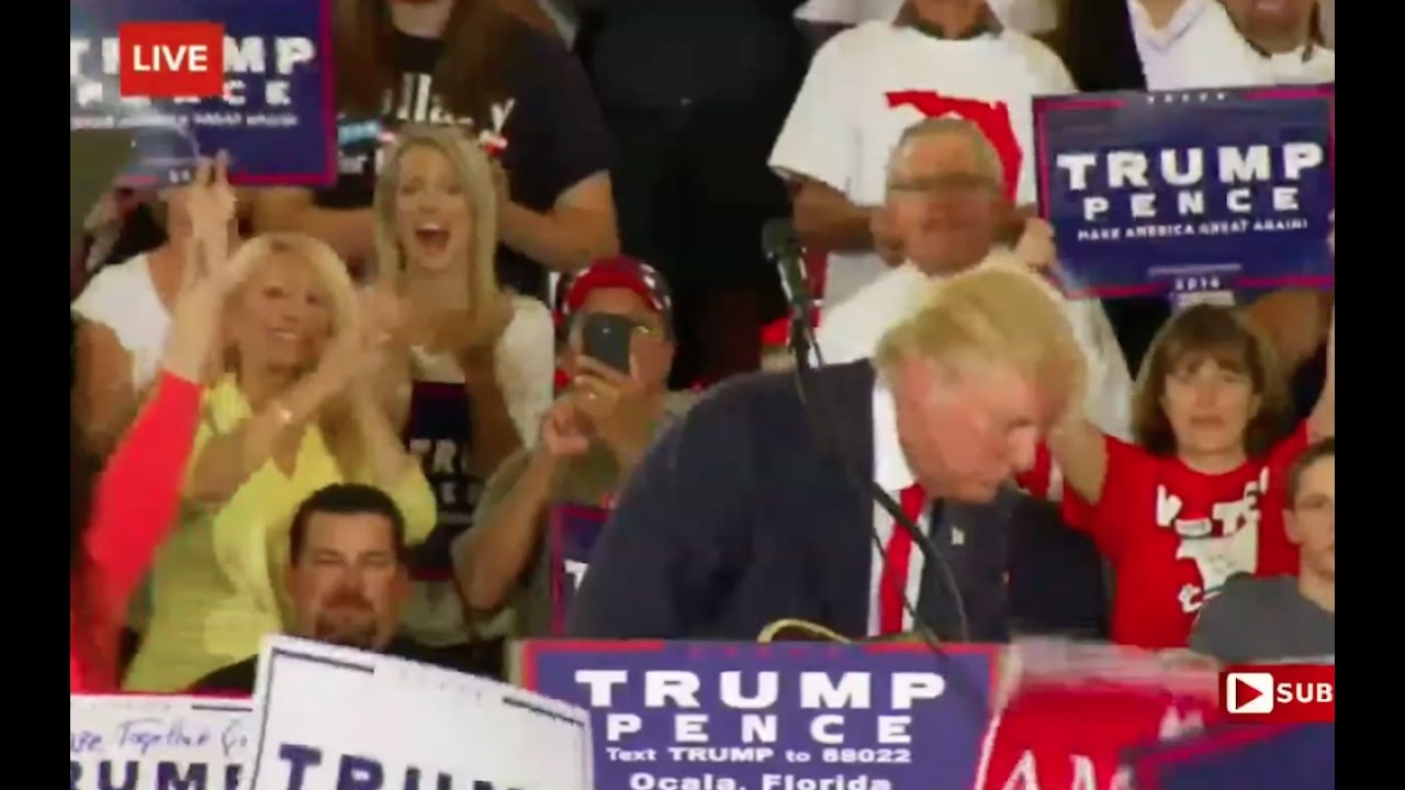 Donald Trump Makes Fun of Hillary Passing Out Again! 10/12/16 6