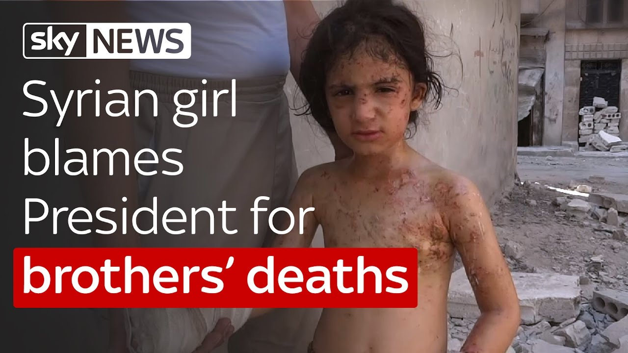 Syrian girl blames President for brothers' deaths 7