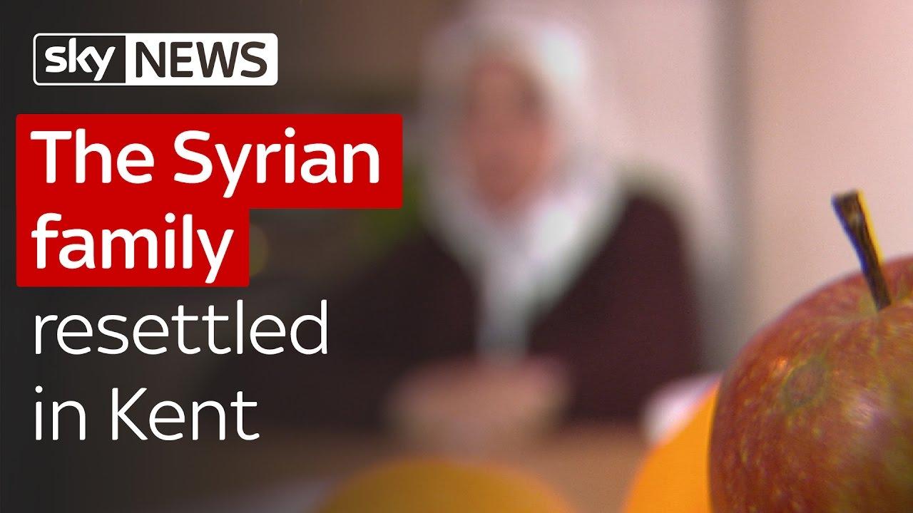The Syrian family resettled in Kent 8