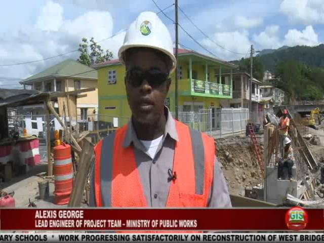 GIS Dominica: Update on Reconstruction of West Bridge 1