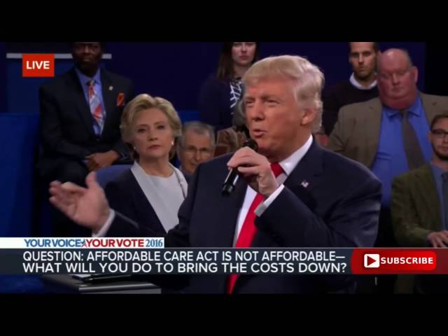 Donald Trump on the Obamacare Disaster 10/9/16: Presidential Debate 4