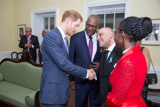 Antigua and Barbuda's minister of tourism welcomes Prince Harry 4