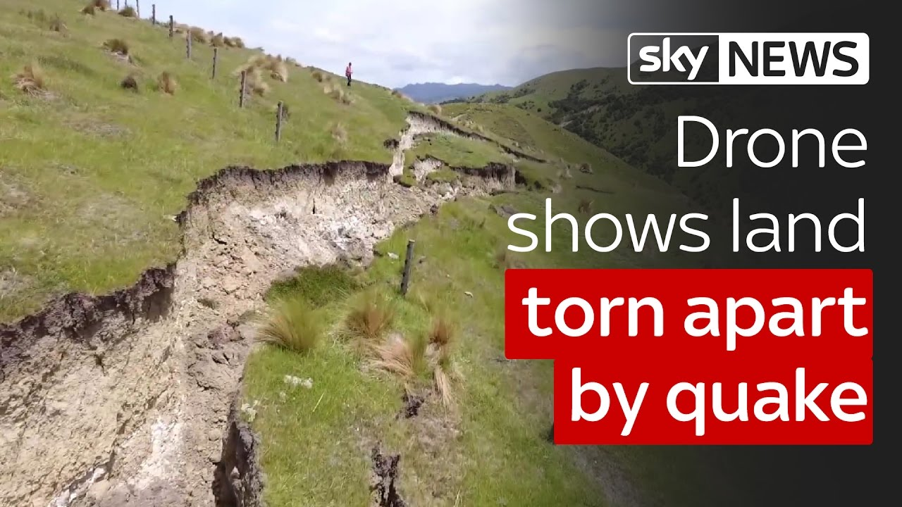 Drone shows land torn apart by New Zealand quake 4