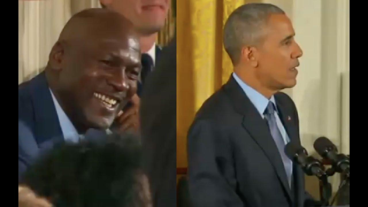 Obama Gives Praises to Michael Jordan 11/22/16 9