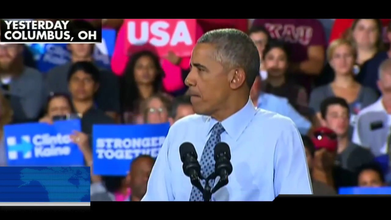 Obama Stutters & Mumbles Trying to Support Hillary! 11/1/16 4