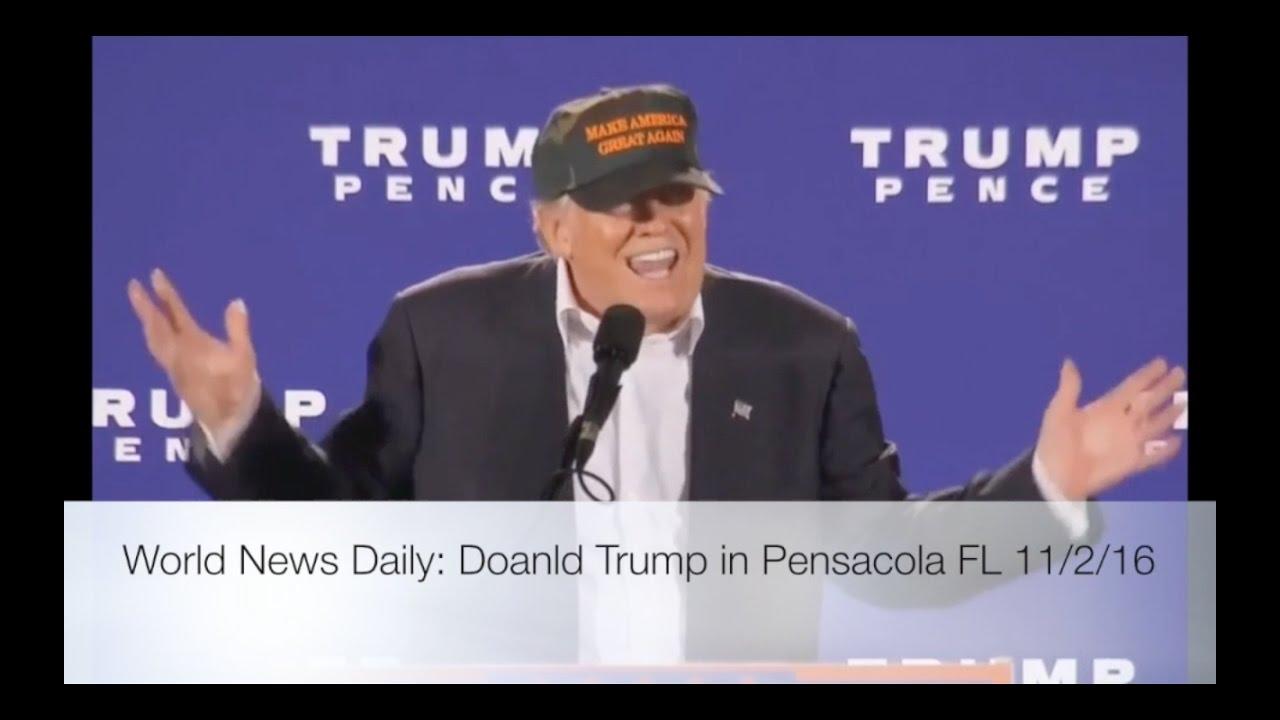 Donald Trump Speech in Pensacola FL 11/2/16 11