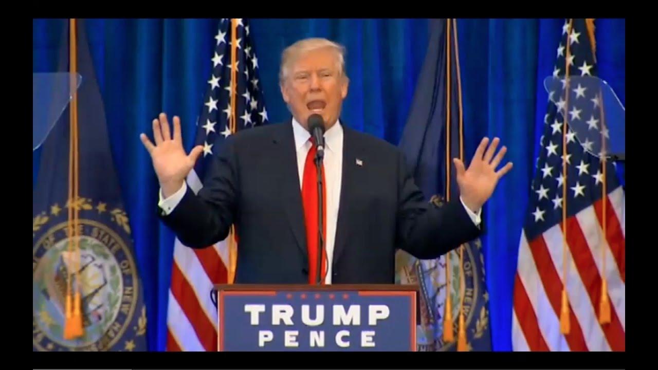 Donald Trump Speech in Atkinson NH 11/4/16 4