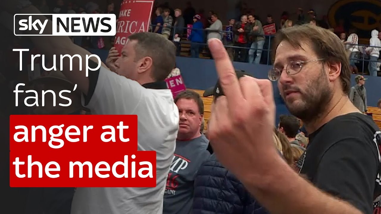 Trump fans' anger at the media 3