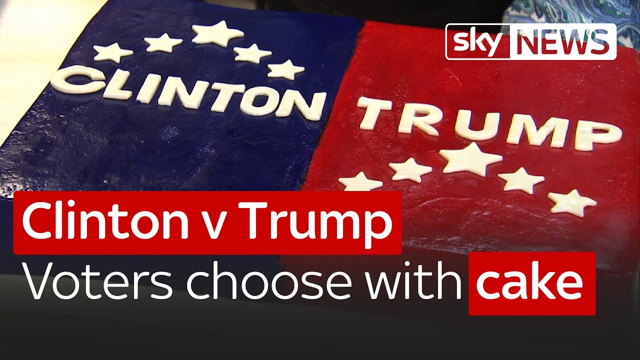 Clinton v Trump: American voters choose with cake 9