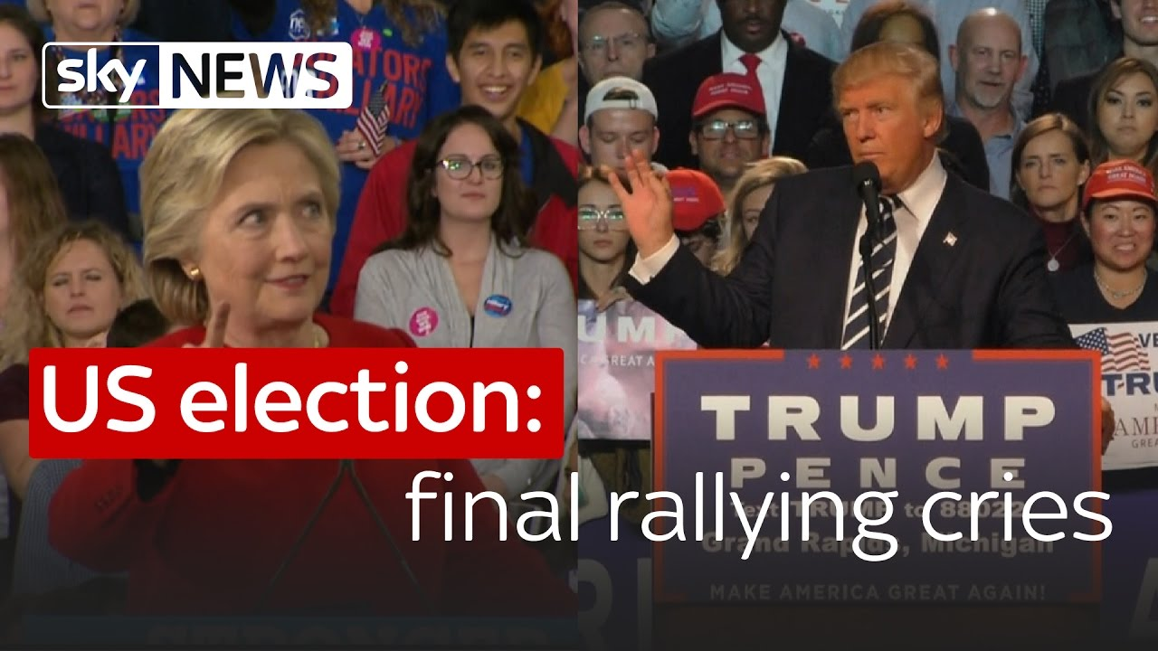 US election: Clinton and Trump's final rallying cries 1