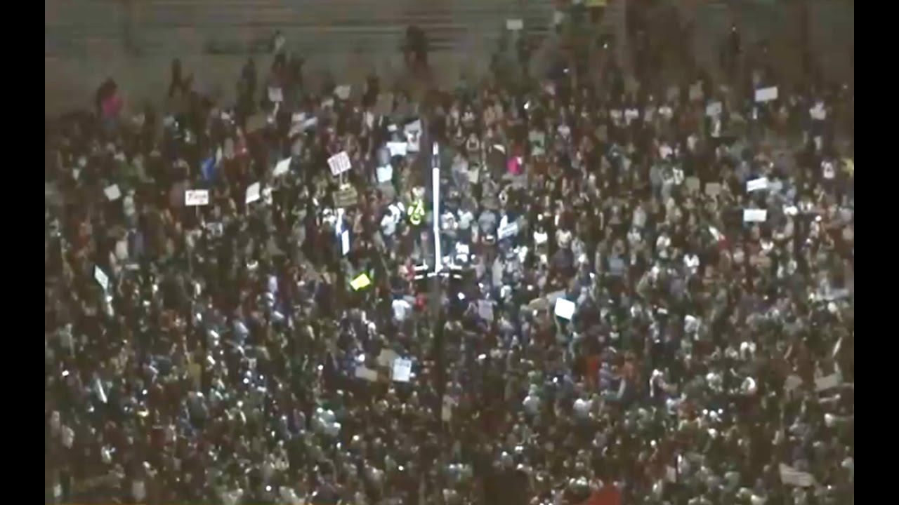 Donald Trump Protesters Shut Down Los Angeles Highway 11/9/16 6
