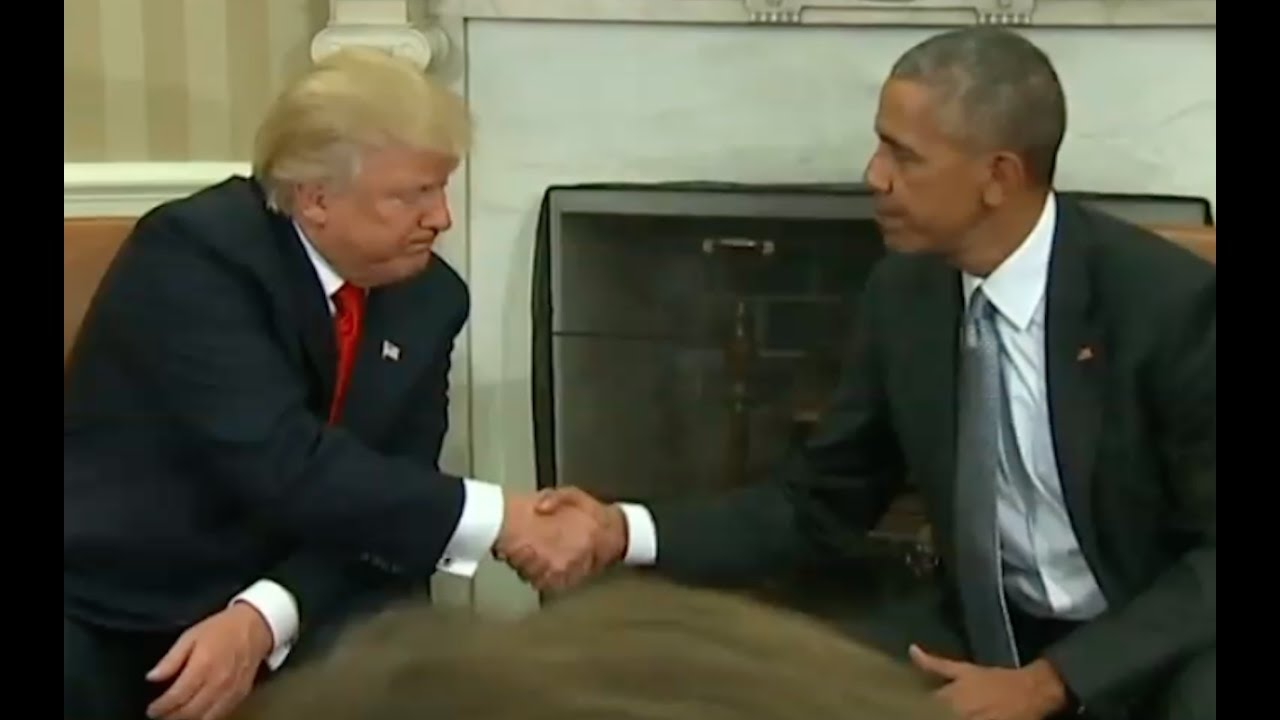 President Trump Meets with President Obama for First Time At White House 11/10/16 3