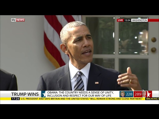 Obama speech after Donald Trump claims US election victory 1