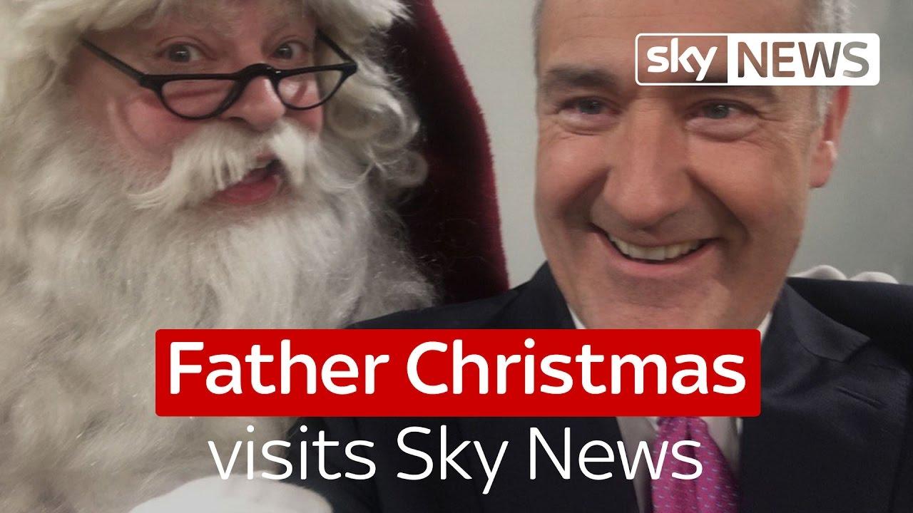 Father Christmas visits Sky News 6