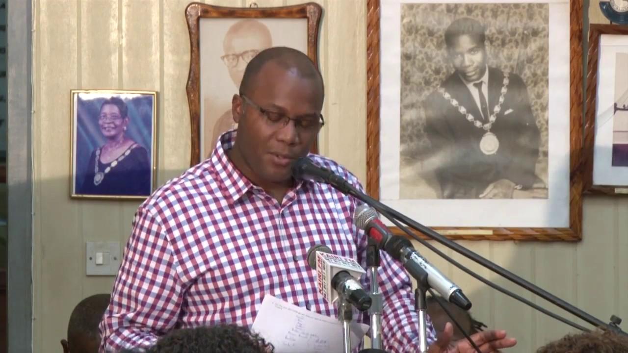 Hon  Robert Tonge address at Roseau Town Hall Meeting 8