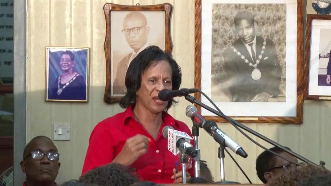 Hon  Catherine Daniel address at Roseau Town Hall 9