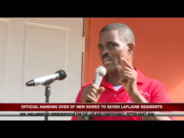 GOVERNMENT HANDS OVER HOUSES TO SEVEN RESIDENTS OF LAPLAINE 8