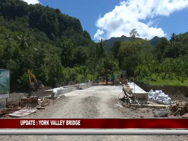 GIS DOMINICA UPDATE ON YORK VALLEY BRIDGE PROJECT 6