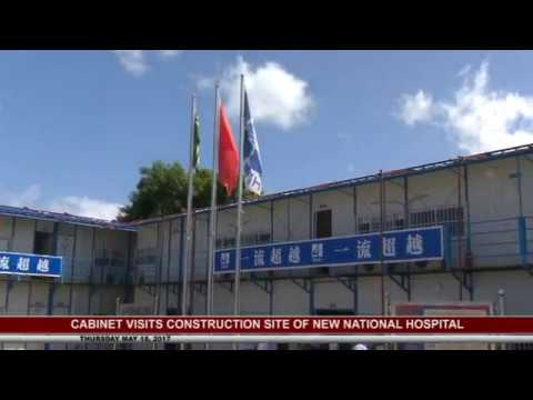 PM AND CABINET VISIT HOSPITAL CONSTRUCTION SITE- MAY 18 2017 4