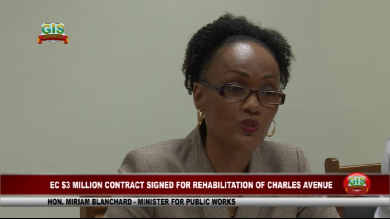 EC$3.05 MILLION SIGNED FOR REHABILITATION OF CHARLES AVENUE IN GOODWILL 3