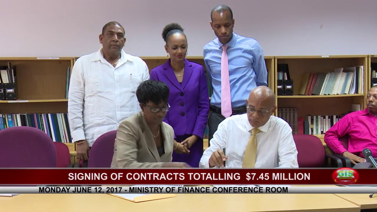 SIGNING OF CONTRACTS TOTALLING $7.45 MILLION 8