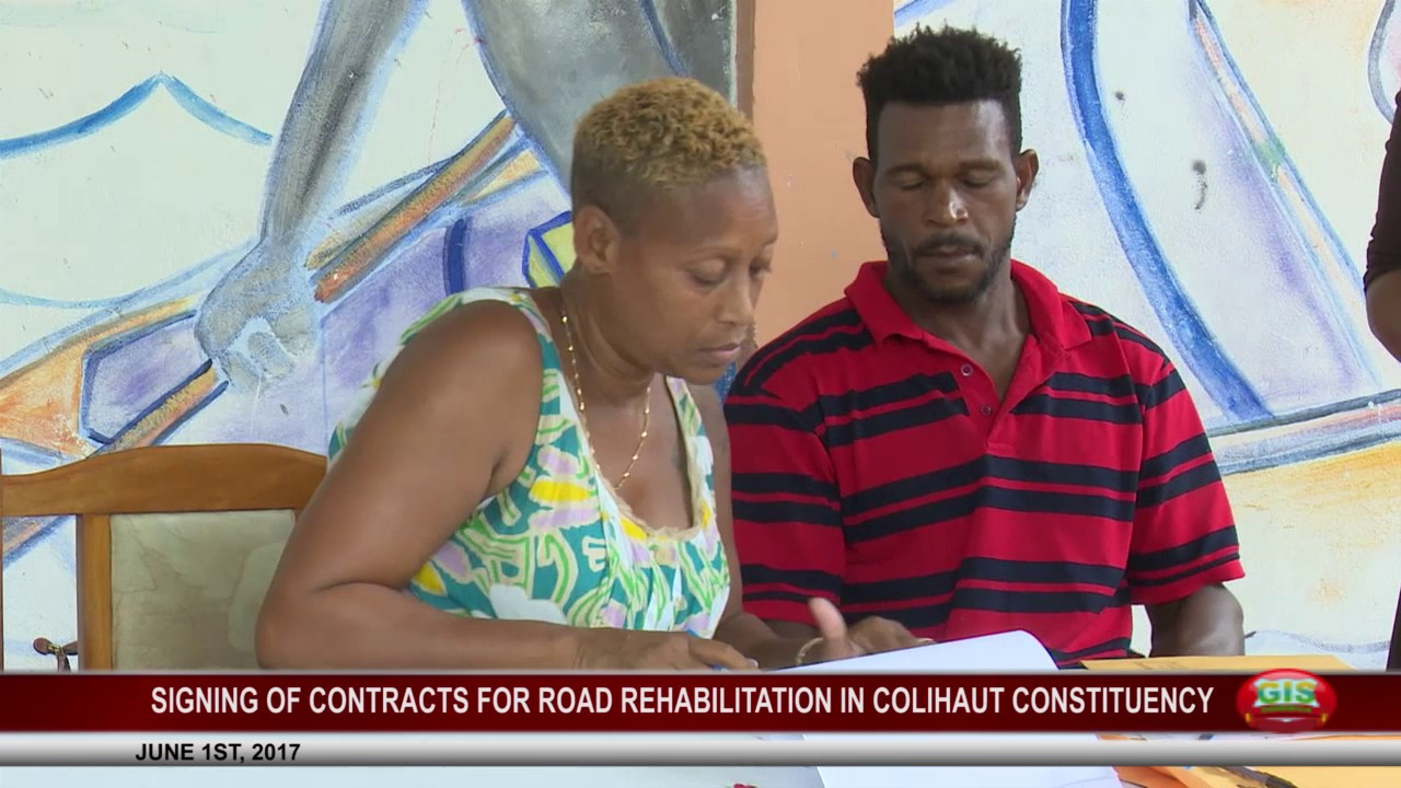 CONTRACTS SIGNED FOR ROAD REHABILITATION IN COLIHAUT CONSTITUENCY 11
