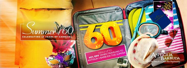 Start your Summer with Antigua and Barbuda's Summer of 60, 60%OFF Offers 1