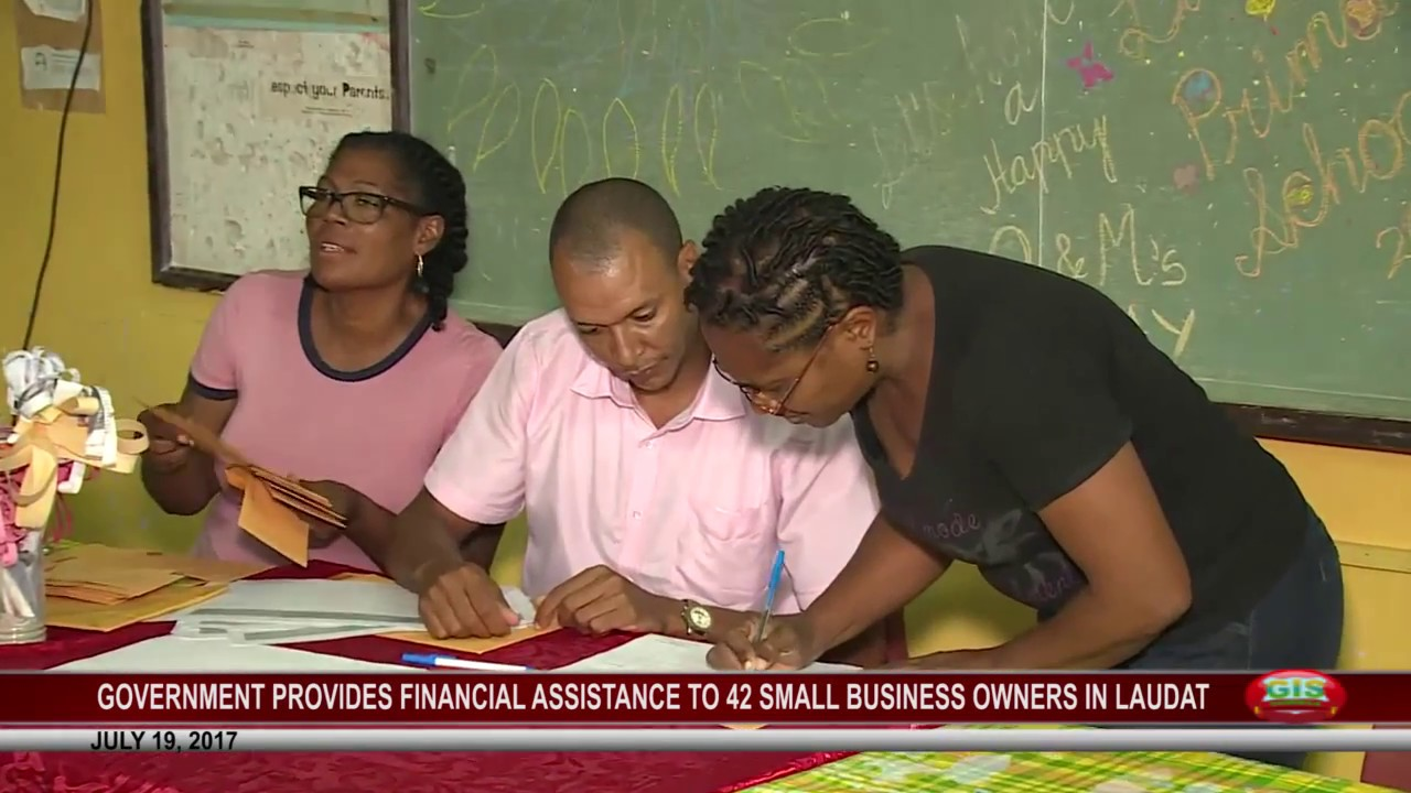 42 SMALL BUSINESSES IN LAUDAT RECEIVE FINANCIAL ASSISTANCE JULY 19 7