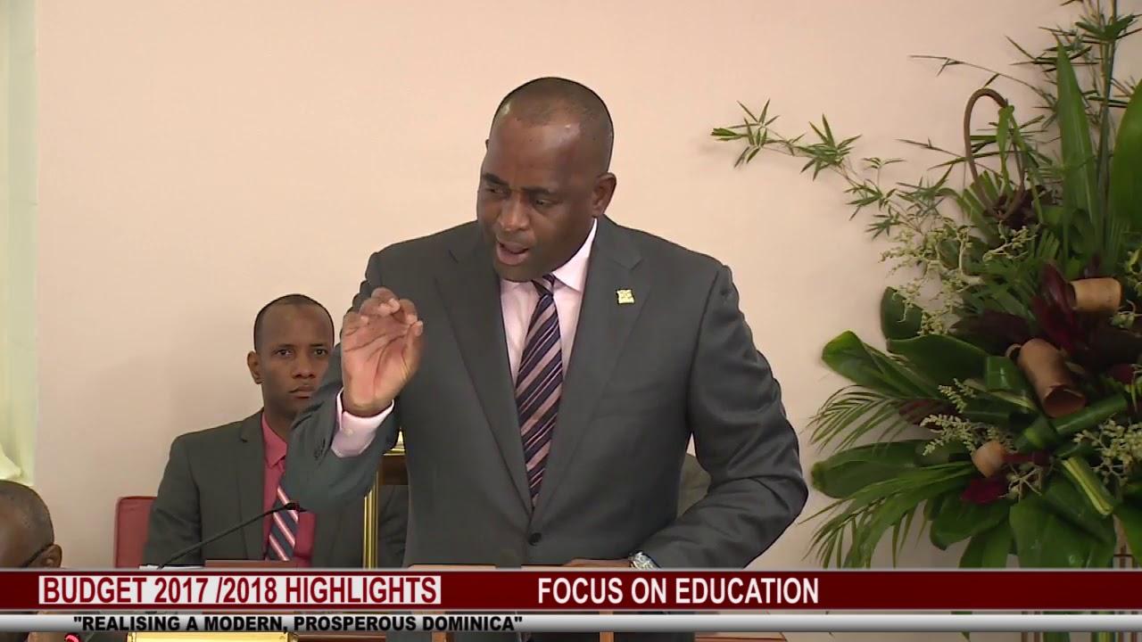 2017 2018 BUDGET HIGHLIGHTS:   EDUCATION 2