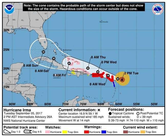 Turks and Caicos Visitors Advisory On Hurricane Irma 3