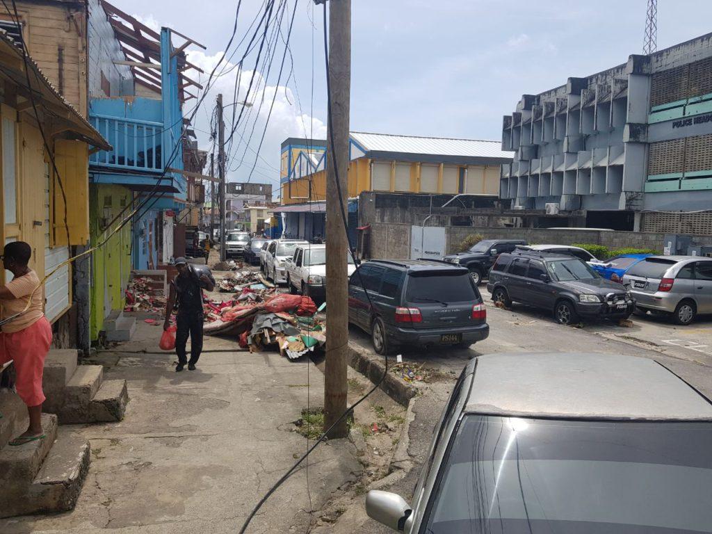 Roseau Dominica took a beating