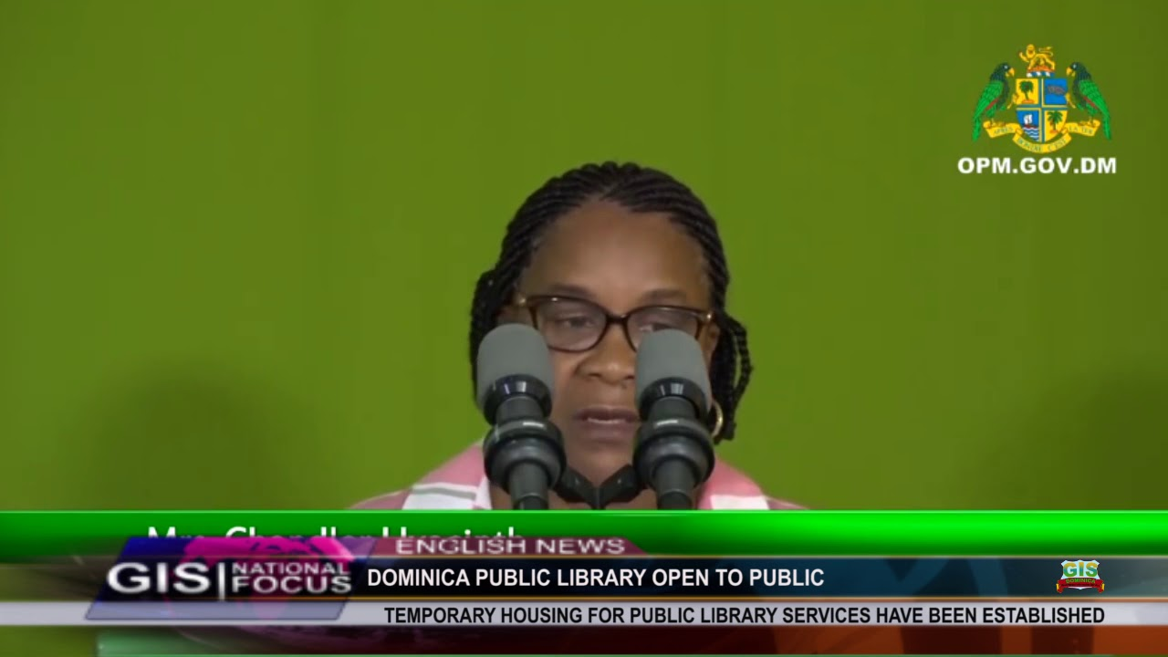 DOMINICA PUBLIC LIBRARY RE-OPENS AFTER HURRICANE MARIA 10
