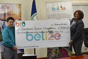 BTB presents U.S. $59,934.00 cheque to CTO Relief Fund 5